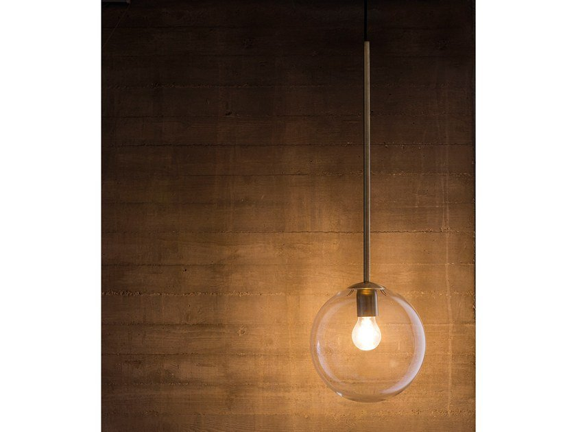 Direct light brass pendant lamp INTI GIG1463.1L by Cangini & Tucci