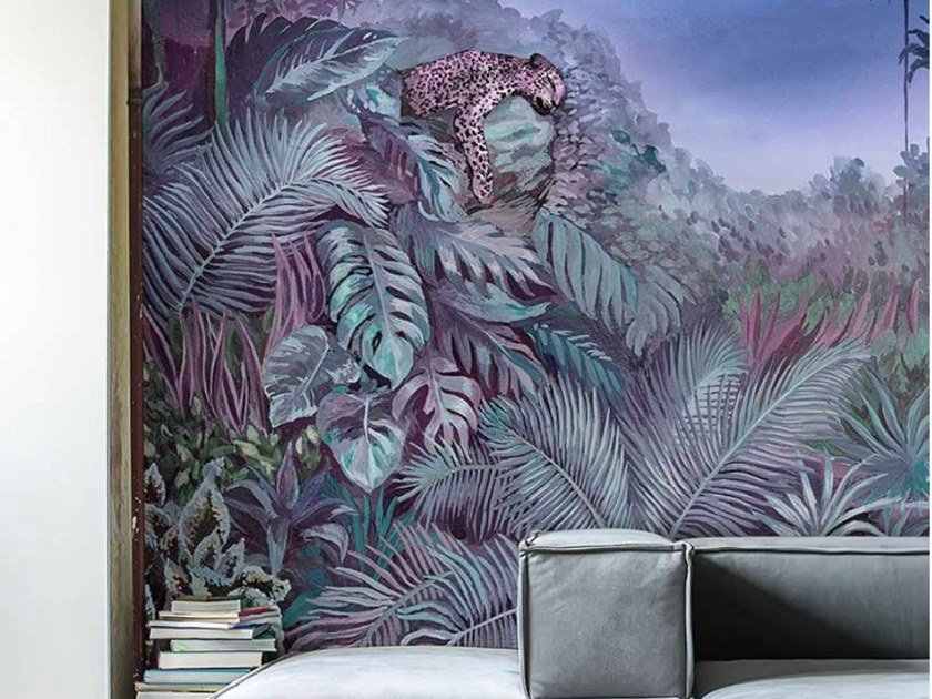 Carta da parati tropicale PVC free, eco-friendly, lavabile INTO THE WILD by Wallpepper Group