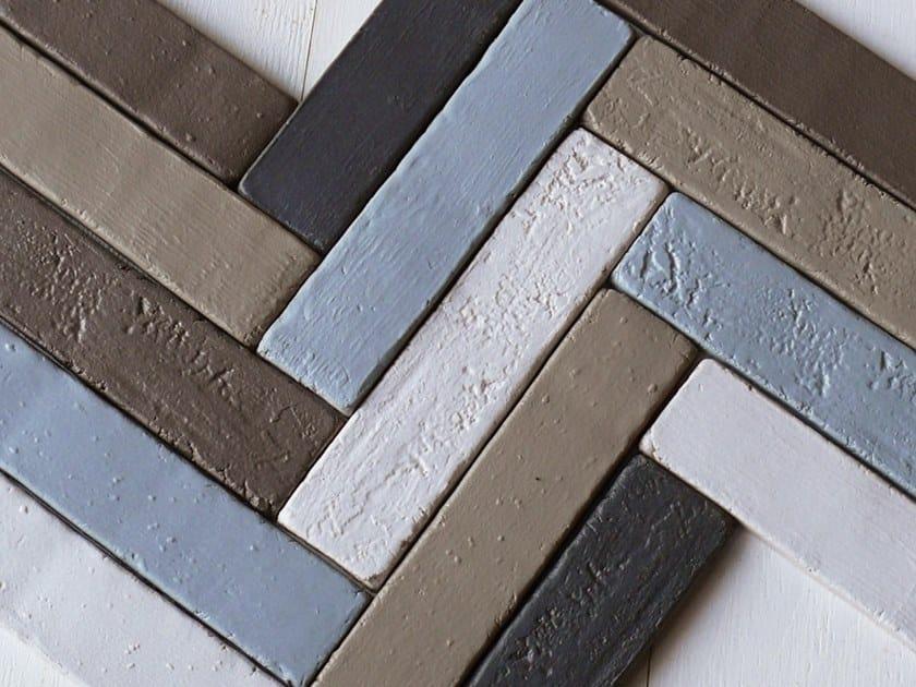 Faïence wall tiles INTONACO 6x26 by Danilo Ramazzotti