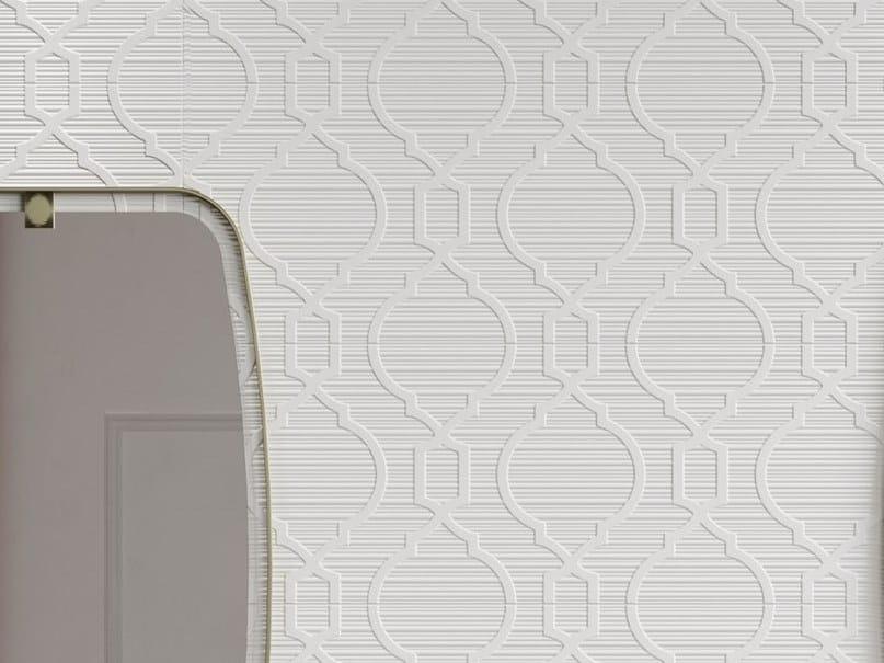 White-paste 3D Wall Cladding FORME BIANCHE INTRECCIO by Impronta Ceramiche