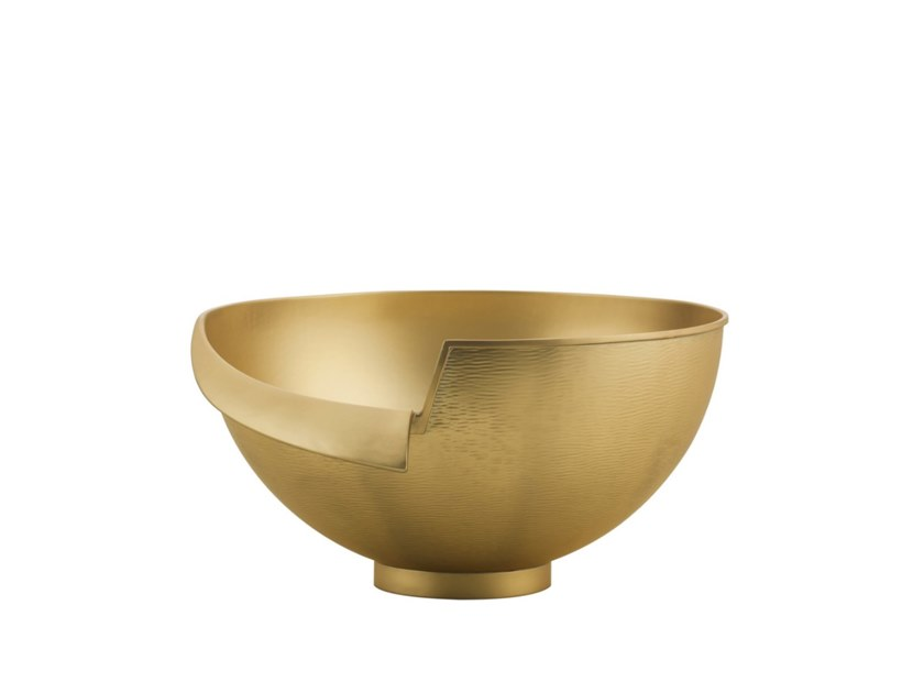 Satin brass bowl INTUIZIONI | Brass bowl by ZANETTO