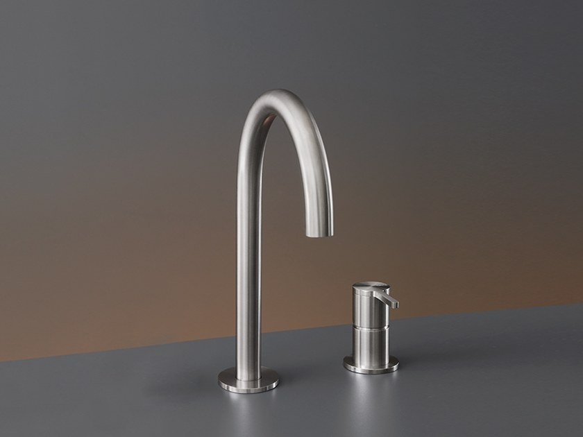 Two-hole mixer with swivelling spout INV 40 by Ceadesign