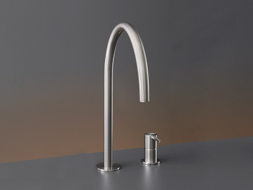Two-hole mixer with swivelling spout INV 42 by Ceadesign