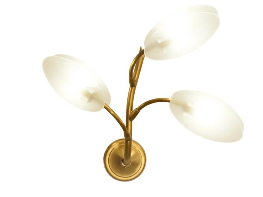 LED handmade brass wall lamp INVERNO 3 | Wall lamp by Patinas Lighting