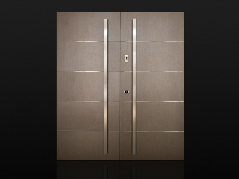 Porcelain stoneware safety door INVISIBILE by Ercole