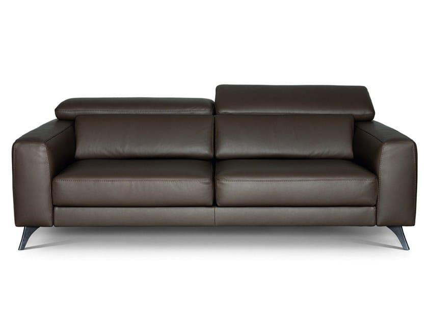 Divano reclinabile in pelle INVITO 01 by Febal Casa