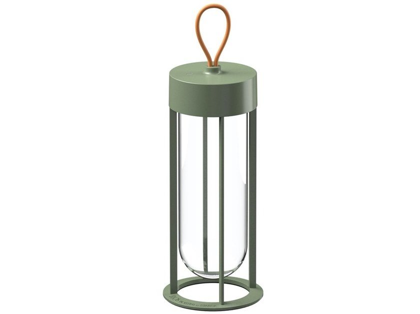LED glass and aluminium Outdoor table lamp INVITRO UNPLUGGED by Flos