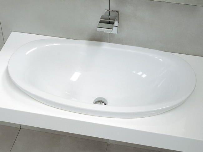 Lavabo da incasso soprapiano in ceramica IO | Lavabo da incasso soprapiano by CERAMICA FLAMINIA