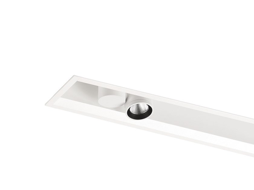 Ceiling mounted aluminium linear lighting profile for LED modules IO RECESSED PROFILE by Arkoslight