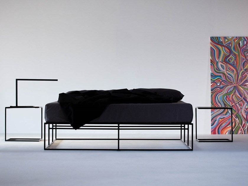 Steel double bed ION | Double bed by MAZANLI