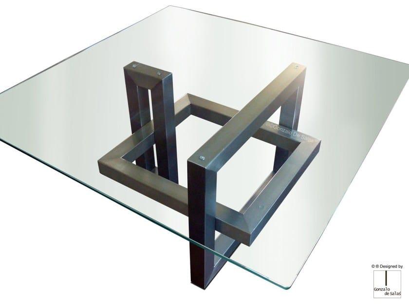 Tavolo In Ferro E Vetro.Ios Tavolo Quadrato By Gonzalo De Salas