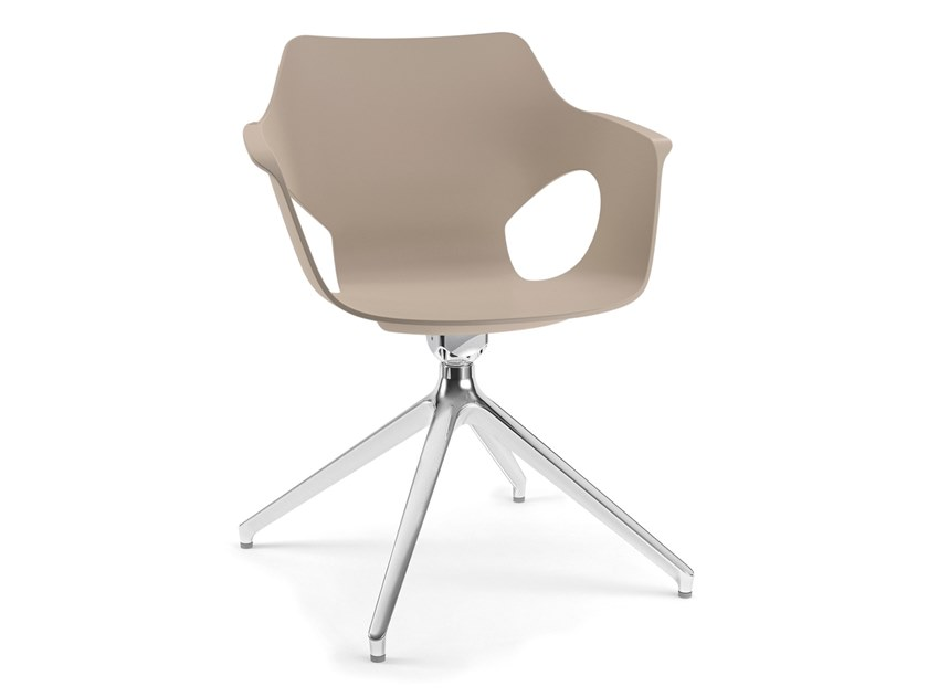Trestle-based chair with armrests IOWA | Trestle-based chair by AP Factor