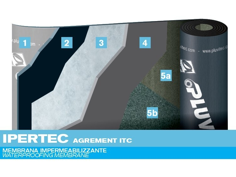 Prefabricated bituminous membrane IPERTEC AGREMENT ITC by PLUVITEC