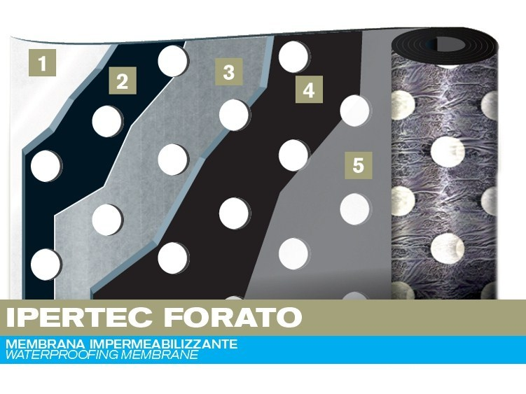 Prefabricated bituminous membrane IPERTEC by PLUVITEC