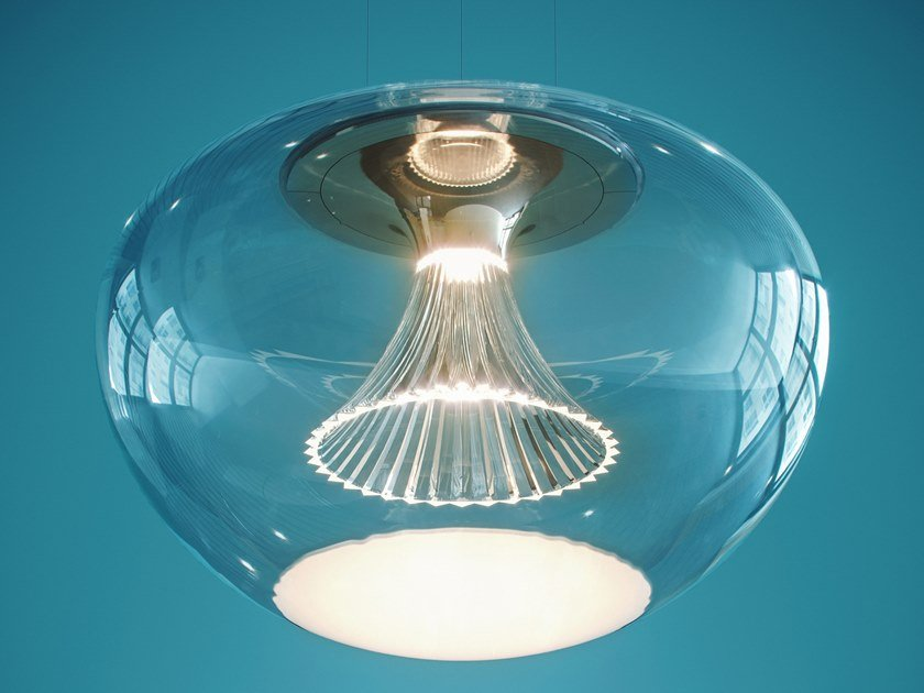 LED direct light blown glass pendant lamp IPNO GLASS by Artemide