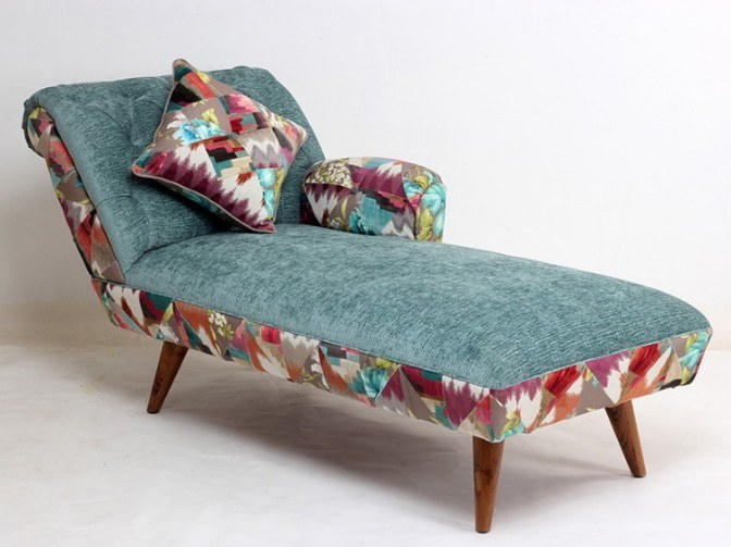 Upholstered fabric day bed IRA by ALANKARAM