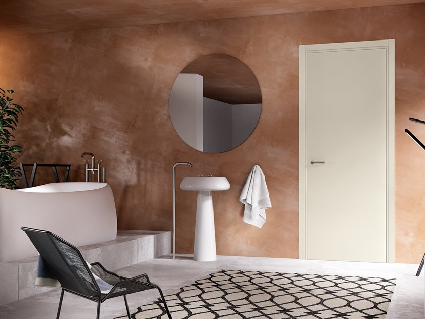 Hinged lacquered wooden door IRIDE 13 LACCATO CALCE by GD DORIGO