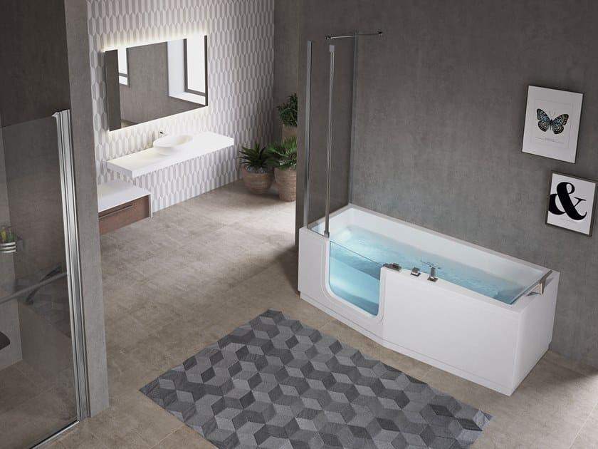 Vasca Da Bagno Angolare Con Vetro : La vasca da bagno come sceglierla per avere una stanza del benessere