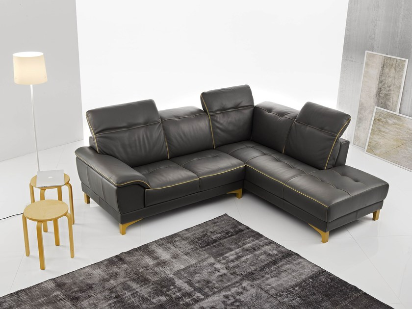 Sectional sofa with chaise longue IRIS by Egoitaliano