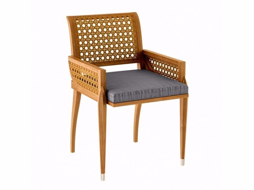 Teak garden chair with armrests IRIS | Garden chair by ASTELLO