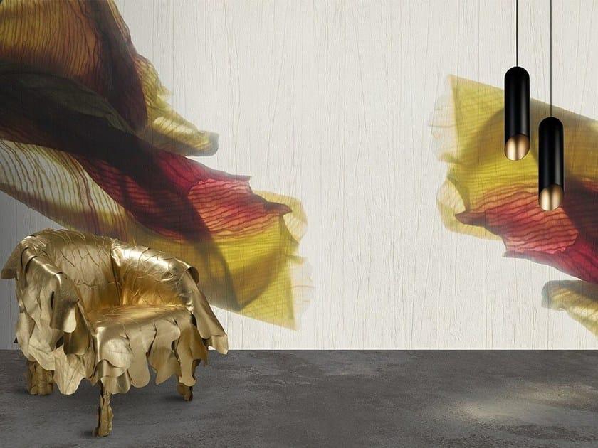 Vinyl or fyber glass wallpaper IRIS by N.O.W. Edizioni