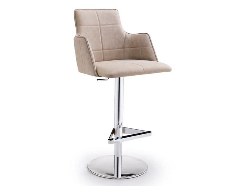 Upholstered height-adjustable stool IRIS P | Height-adjustable stool by Natisa