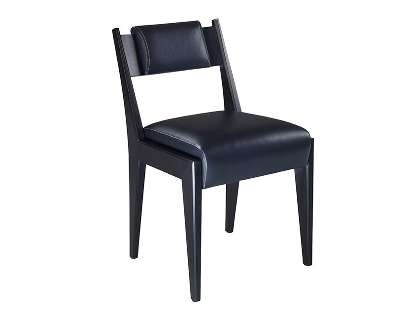 Upholstered leather chair IRIS by Promemoria
