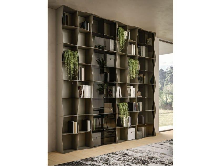 Libreria a giorno modulare in metallo IRON-IC by Ronda Design