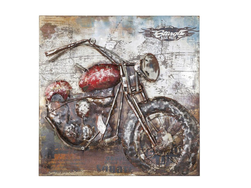 Steel decorative painting IRON MOTORBIKE by KARE-DESIGN