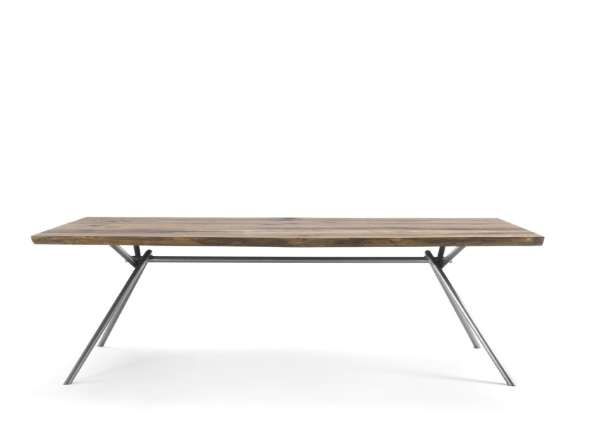 Rectangular solid wood table IRON SQUARED by Riva 1920