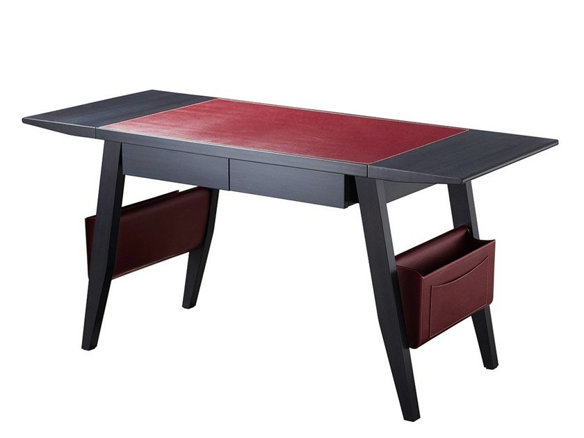 Wooden secretary desk with drawers ISAAC by Promemoria