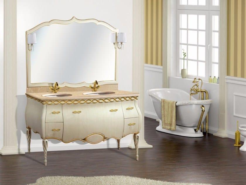 Double vanity unit with mirror ISCHIA CM30DC by LA BUSSOLA
