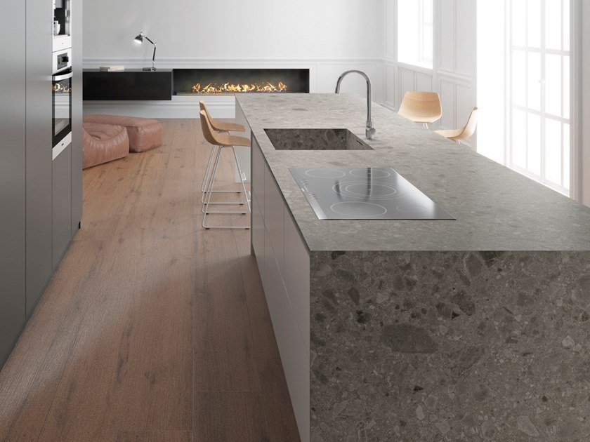 Porcelain stoneware kitchen worktop ISEO ITOP by Inalco