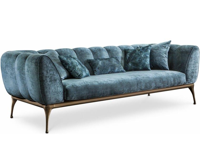 3 seater velvet sofa ISEO | Sofa by Cantori