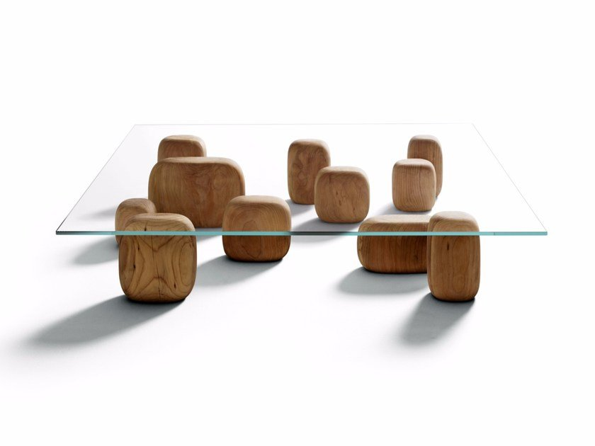 Low square coffee table ISHI by DE PADOVA