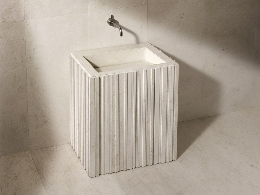Rectangular stone washbasin ISHIBURO | Washbasin by SALVATORI