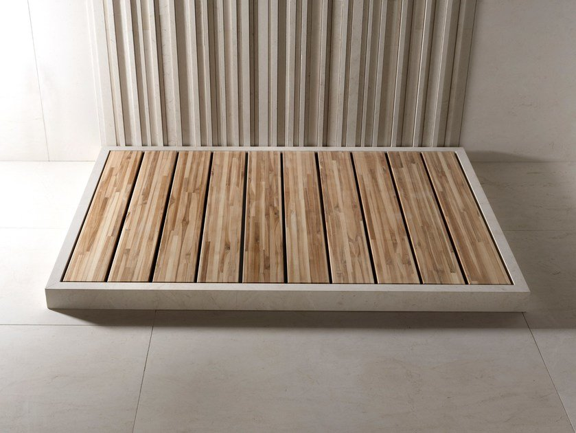 Teak shower tray ISHIBURO | Shower tray by SALVATORI