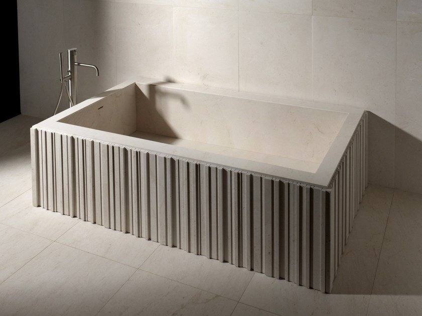 Rectangular stone bathtub ISHIBURO | Bathtub by SALVATORI