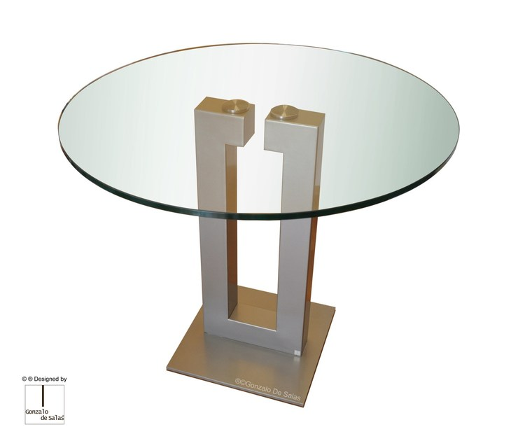 Glass Dining Table Isis Round Table By Gonzalo De Salas.