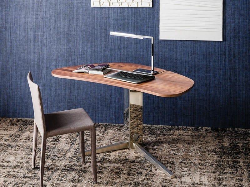 Walnut writing desk ISLAND by Cattelan Italia