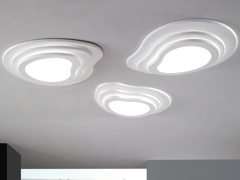 Plafoniera Led Da Soffitto : Plafoniera a led in metacrilato islas lampada da soffitto noidesign