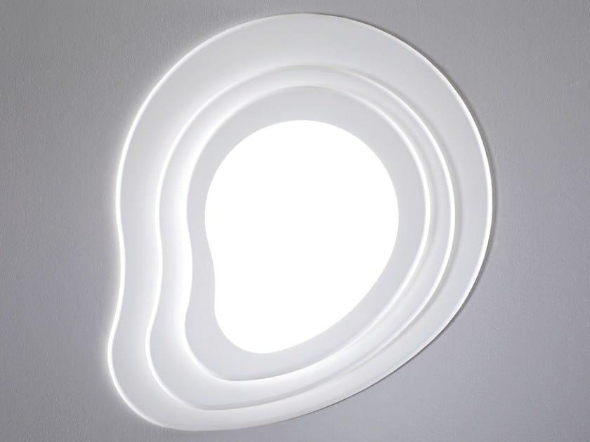 Plafoniere A Led Da Soffitto : Plafoniera a led in metacrilato islas lampada da soffitto