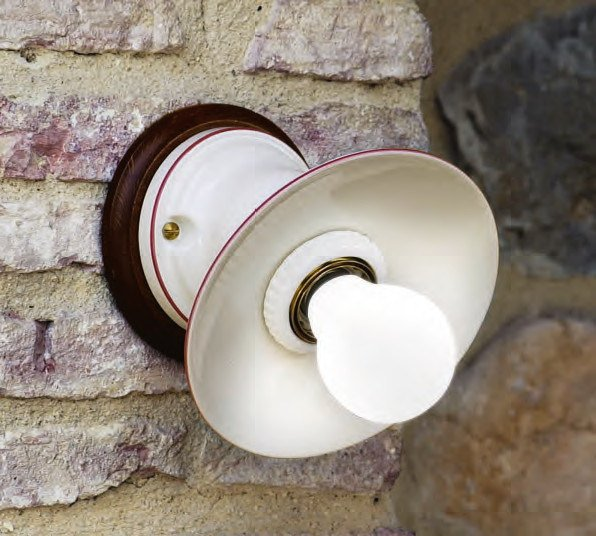 Direct-indirect light ceramic wall light ISOLA | Wall light by Aldo Bernardi
