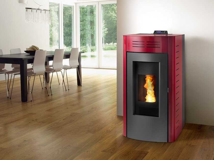 Pellet Class A+ steel Heating stove ISOLA by CAMINETTI MONTEGRAPPA