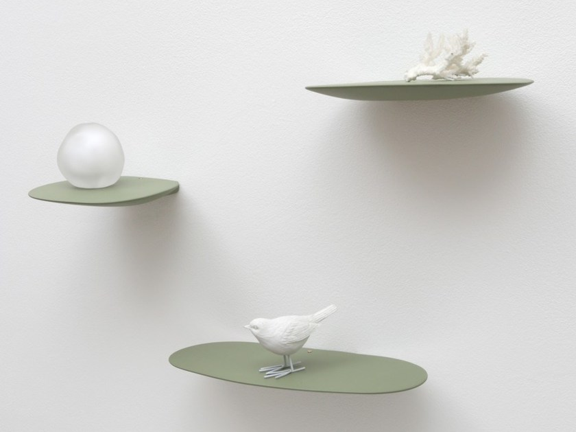 Ceramic wall shelf ISOLA SHELF x3 by Moustache