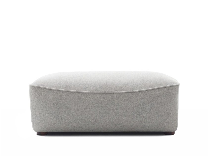 Upholstered rectangular fabric pouf ISOLA | Pouf by Extraform