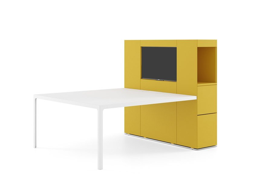 Multimedia meeting table ISOLA VIDEO by ESTEL GROUP