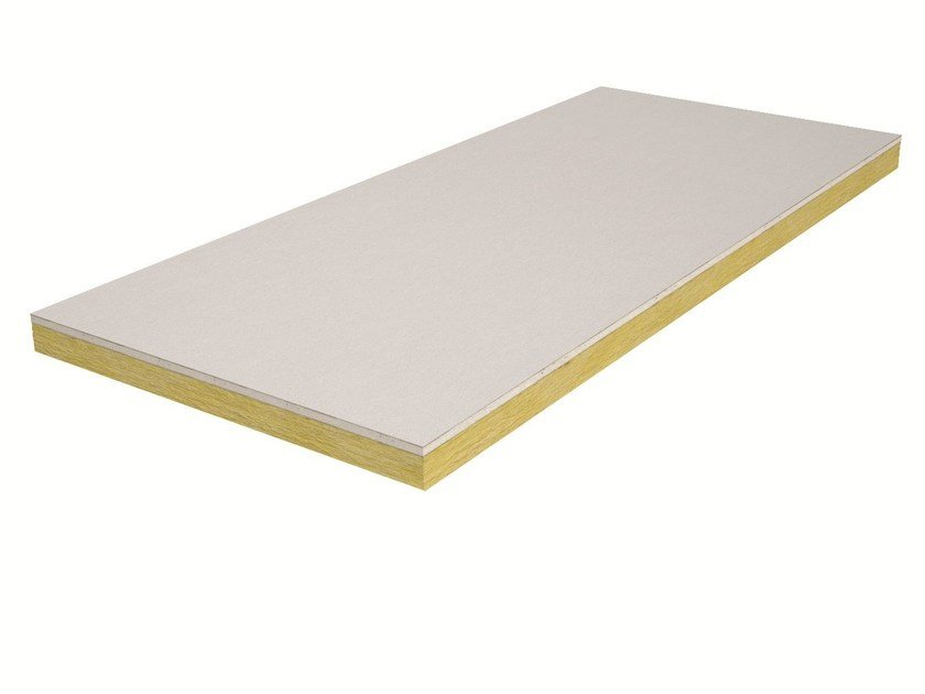 Gypsum plasterboard for thermal insulation ISOLASTRA® LM 115 by Knauf Italia