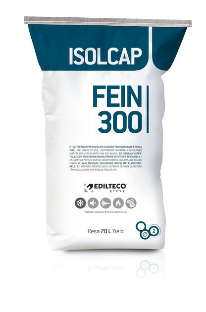 Pre-mix for thermal insulating screed ISOLCAP FEIN 300 by EDILTECO