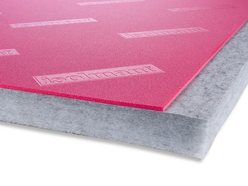 Polyester fibre Sound insulation and sound absorbing panel in mineral fibre ISOLMANT PERFETTO SPECIAL by Isolmant